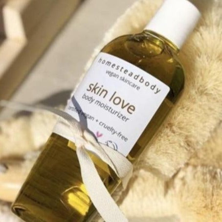 skin love body oil + dry brush - organic and vegan