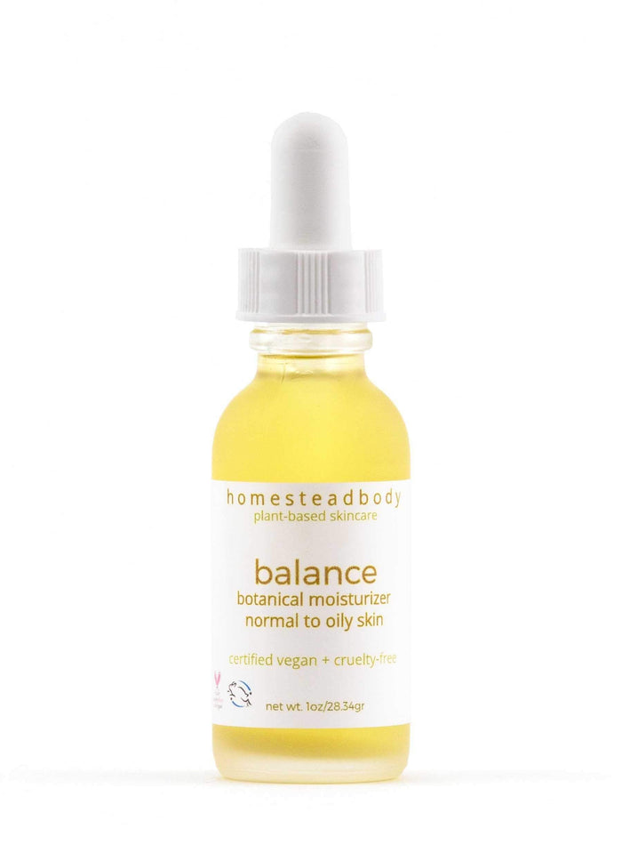 balance organic face oil - homestead body organic plant-based skincare