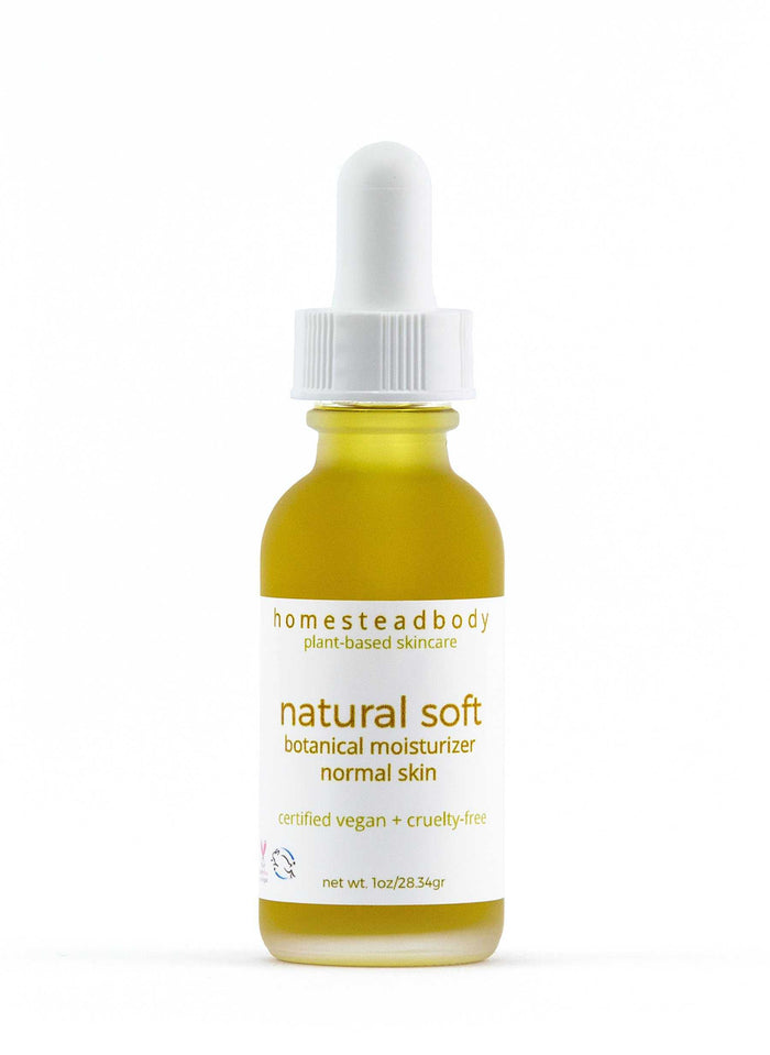 natural soft botanical face oil - homestead body organic plant-based skincare