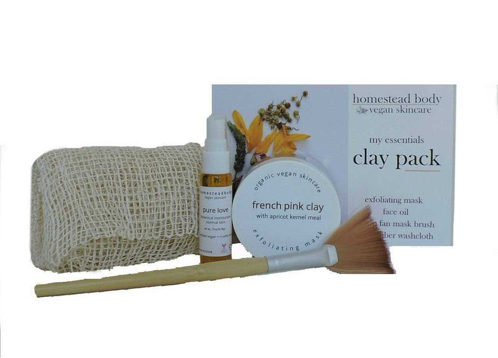 my essentials clay pack - homestead body organic plant-based skincare