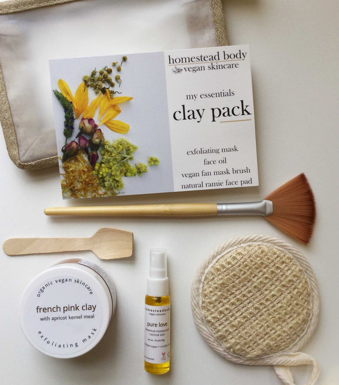 my essentials clay pack | homestead body