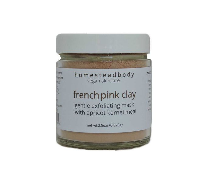 french pink clay exfoliant - homestead body organic plant-based skincare