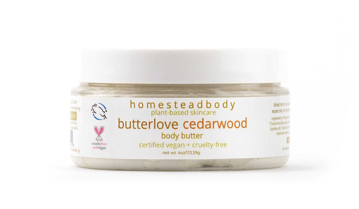 ​​ ​organic body butter, homestead body organic and certified vegan and cruelty-free skincare​​