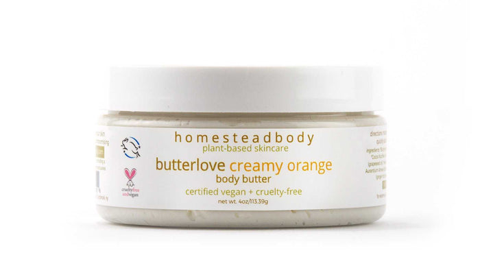 homestead body organic plant-based skincare made with certified vegan + cruelty-free ingredient