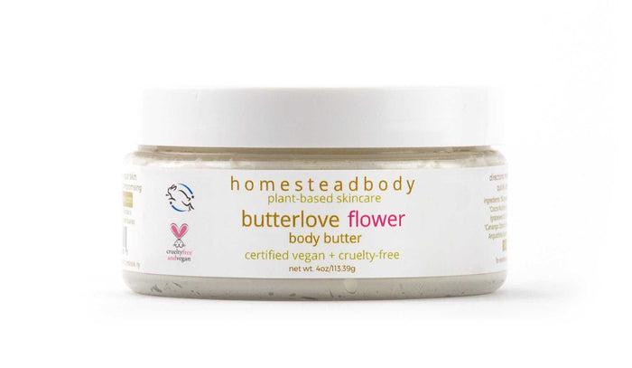 ​organic body butter, homestead body organic and certified vegan and cruelty-free skincare​​