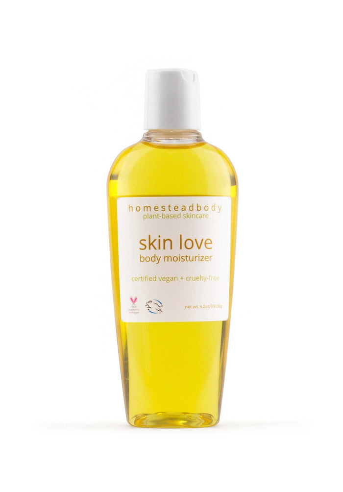 skin love body oil - homestead body organic plant-based skincare