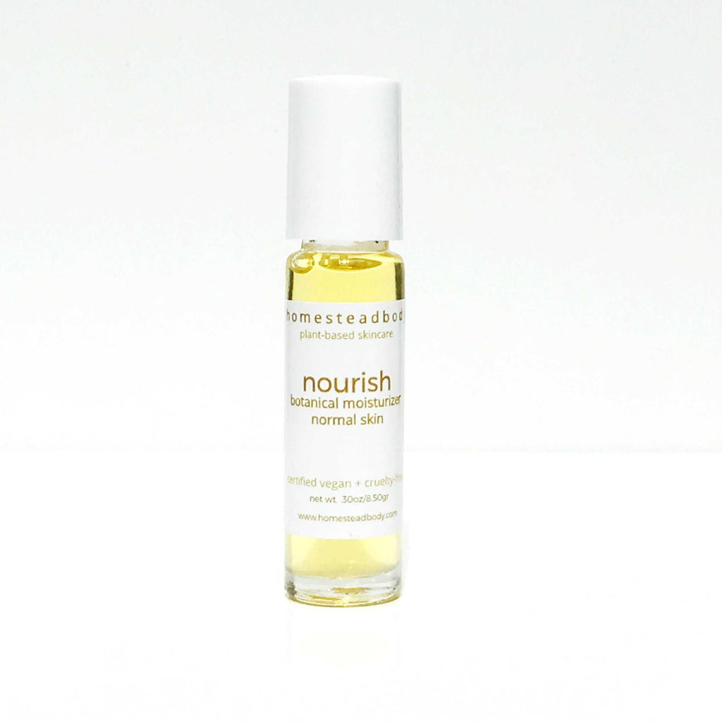 nourish organic face oil - homestead body organic plant-based skincare