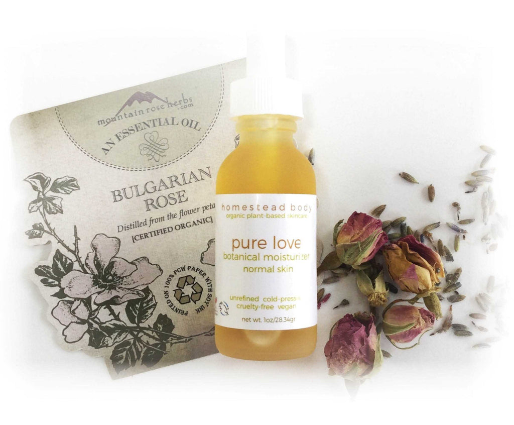 pure love botanical face oil