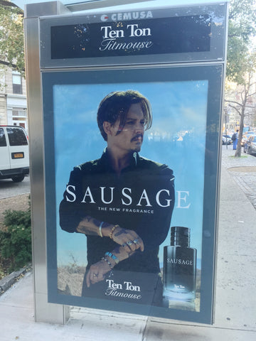 Johnn Depp Sauvage Bus Shelter. 2016