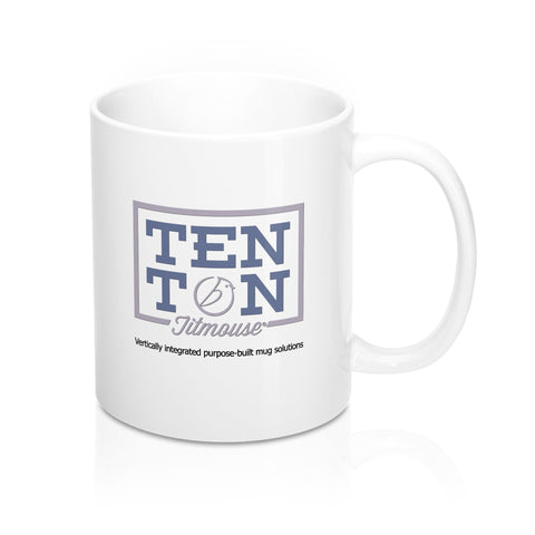 Ten Ton Titmouse Logo Mug with Tag Line