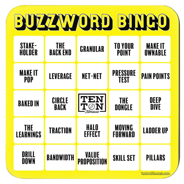 Ten Ton Titmouse Buzzword Bingo Coaster