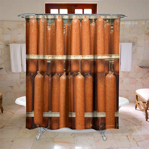 Hanging Salami Shower Curtain