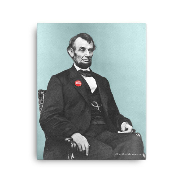 A. Broham Lincoln Stay Woke Canvas