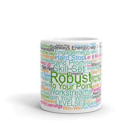 Funny Mug: Morning Buzzword Collection, Robust