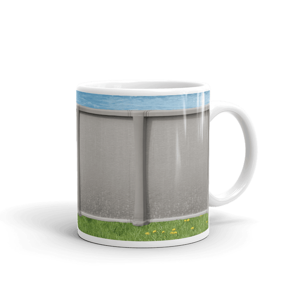 Funny mug designed to look like an above ground pool