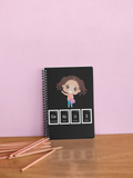 Genius Girl Notebook - Black