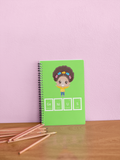 Genius Girl Notebook - Green