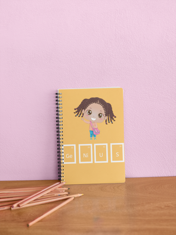 Genius Girl Notebook - Various Colors