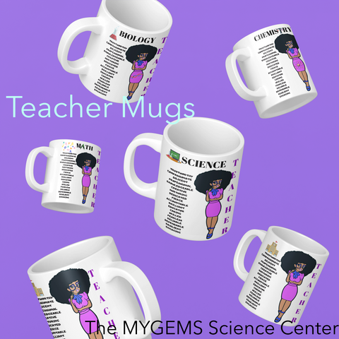11 oz Regular Teacher Mugs - Purple