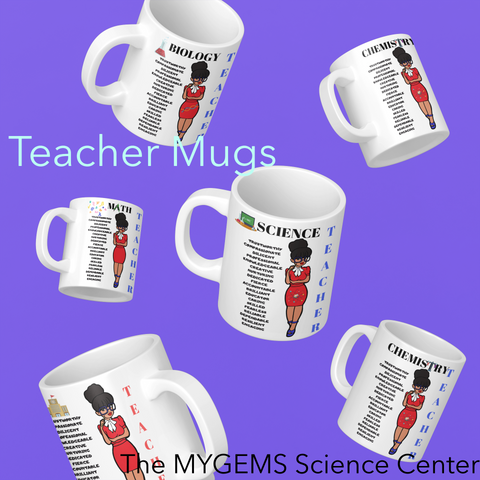 11 oz Regular Teacher Mugs - Red