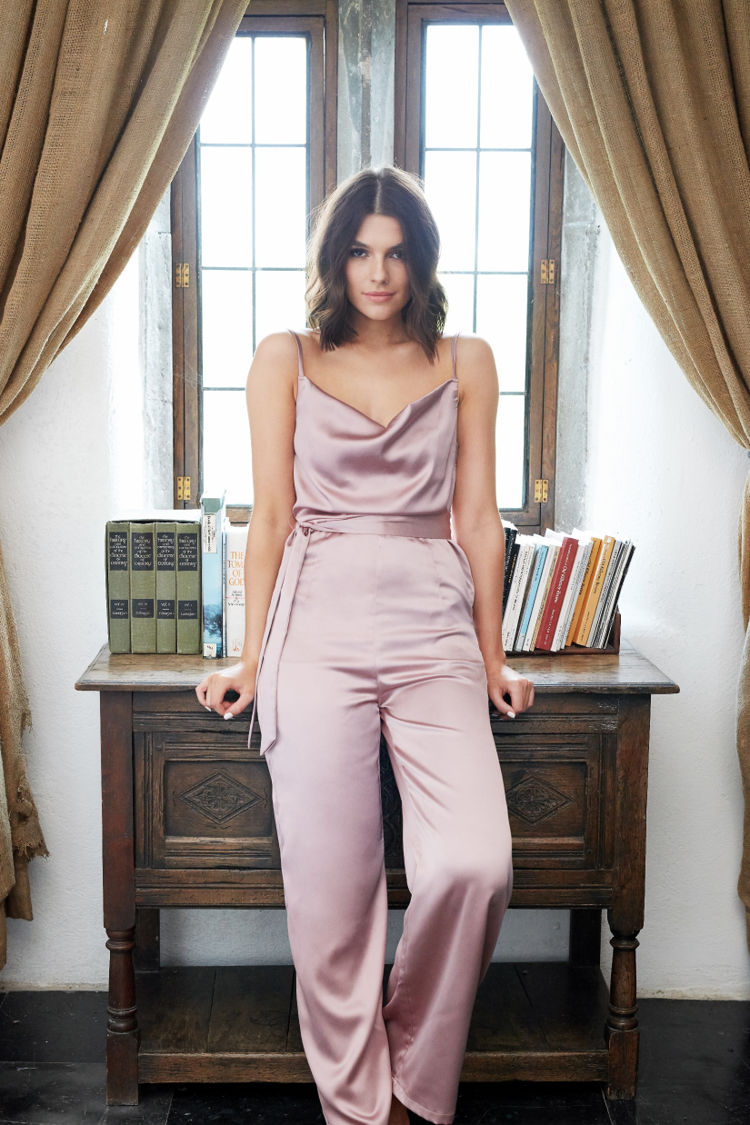 Love Letters Satin Jumpsuit