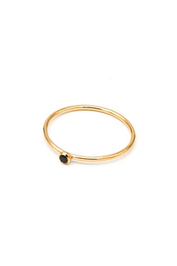 MAY MARTIN - BLACK CZ STACKING RING