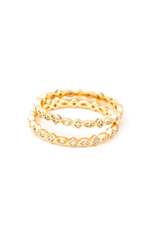MAY MARTIN - CZ STACKING RING - ZIG ZAG