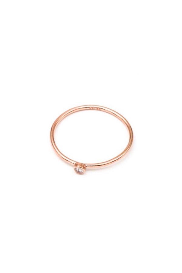 MAY MARTIN - ROSE GOLD FILLED CZ STACKING RING