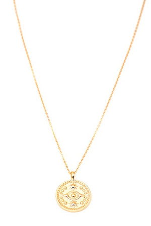 MAY MARTIN - EVIL EYE COIN NECKLACE