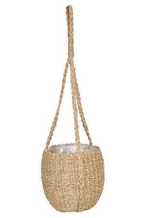 HANGING SEAGRASS BASKET PLANTER