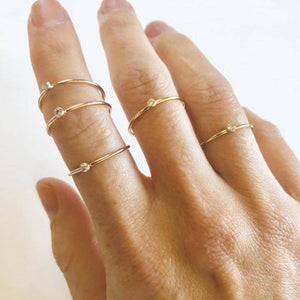 MAY MARTIN - GOLD FILLED CZ STACKING RINGS