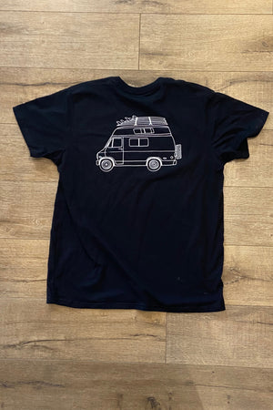 THE SALTY GARAGE TEE - BLACK