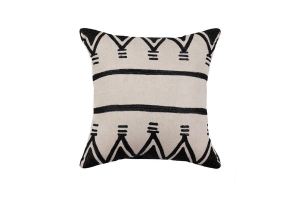 BLACK AYANA THROW PILLOW  W/ CUSION INSERT
