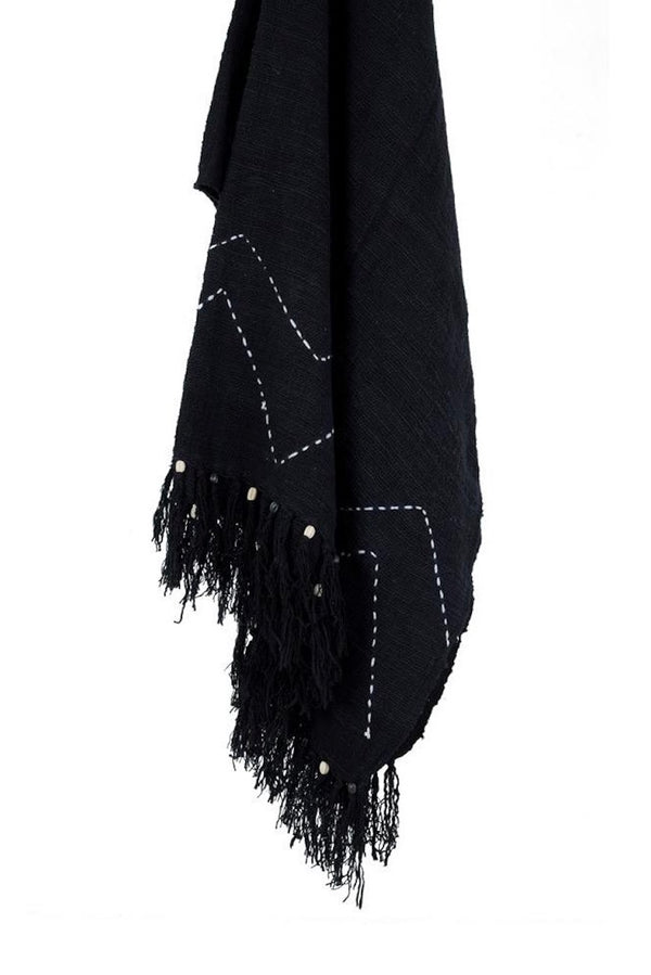 THROW AMARA BERBER - BLACK