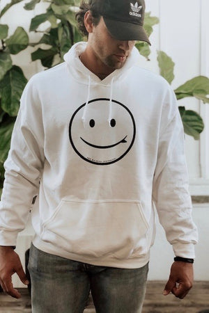 ROB MACHADO SURFBOARDS - SMILEY HOODIE - WHITE