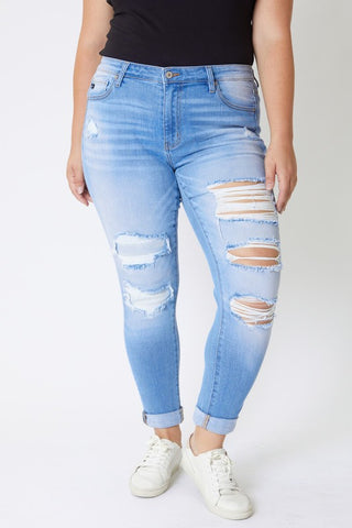 KanCan Plus Distressed Ankle Skinny