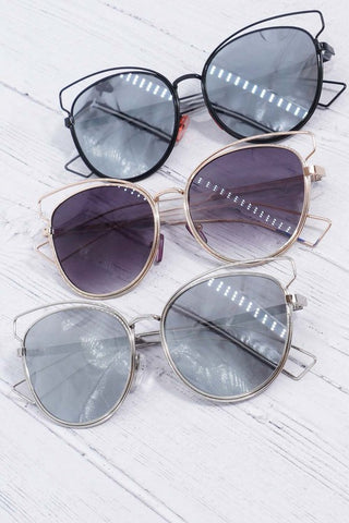 Round Wire Fashion Sunglasses