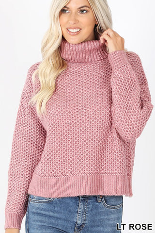 Turtleneck Melange Sweater