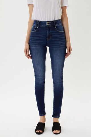 KanCan High Waist Double Button Jeans