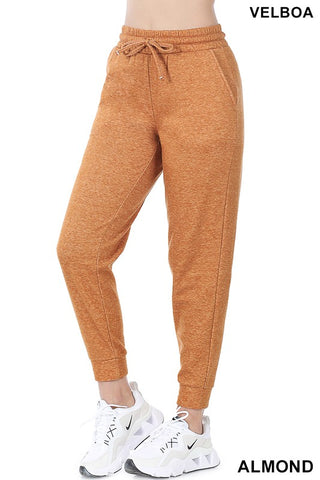 PLUS MELANGE VELBOA SWEATPANTS