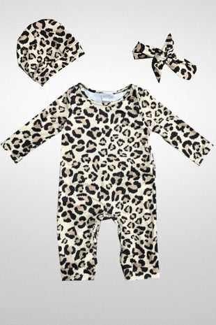 3 Piece Leopard Jumpsuit- KIDS