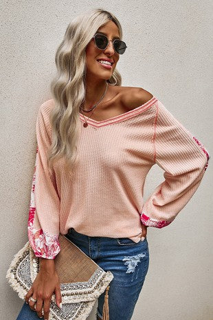 Floral Patchwork Top