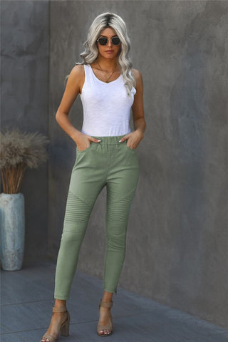 Cropped Moto Jeggings