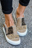 Snake Leopard Mixed Print Slip-on Canvas