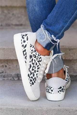 Leopard Patchwork Casual Sneakers