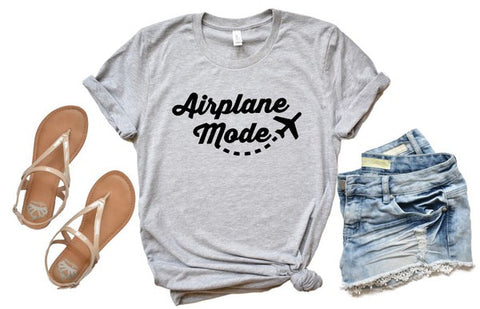 Airplane Mode Crew Neck Softstyle Tee