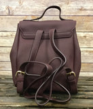 Wine Leather Backpack