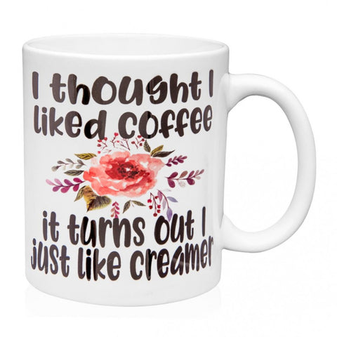 Floral Accent Coffee Mugs