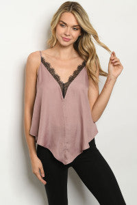 Mauve with Lace Cami