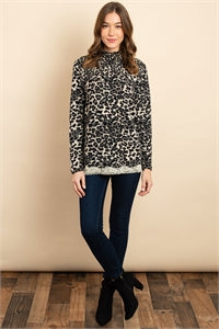 TAUPE ANIMAL PRINT TOP